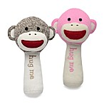 Baby Starters Sock Monkey Plush Rattle with Mirror