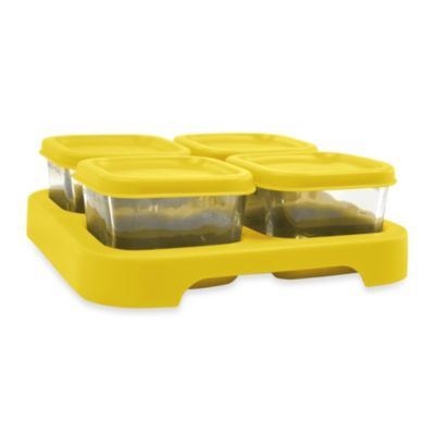 green sprouts® by i play.® Set of 4 Glass Freezer Cubes in Yellow