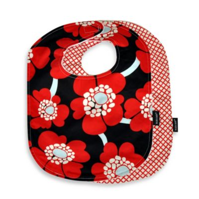 Balboa Baby® 2-Pack Bib Set in Red Poppy