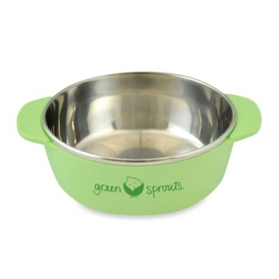 green sprouts® by i play.® Stainless Steel Bowl in Green