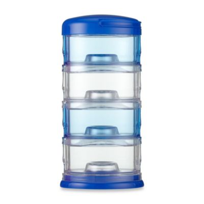 Packin' SMART® by Innobaby 4-Tier Stackable Formula Dispenser and Snack Case in Blue