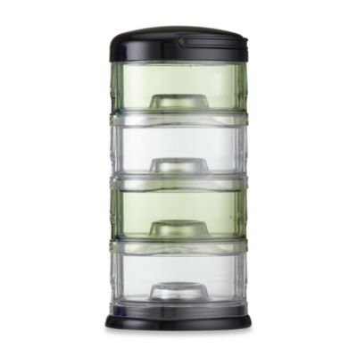 Packin' SMART® by Innobaby 4-Tier Stackable Formula Dispenser and Snack Case in Green