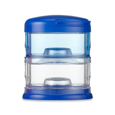 Packin' SMART® by Innobaby 2-Tier Stackable Formula Dispenser and Snack Case in Blue