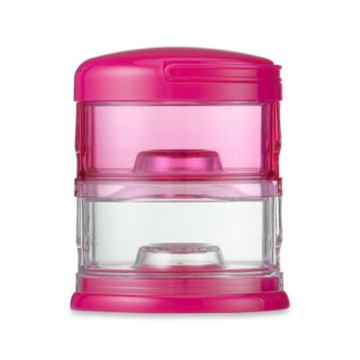 Packin' SMART® by Innobaby 2-Tier Stackable Formula Dispenser and Snack Case in Pink