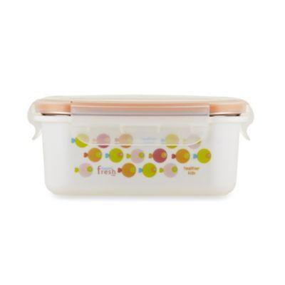Innobaby 15 oz. Double-Lined Stainless Bento Snack Box in Orange