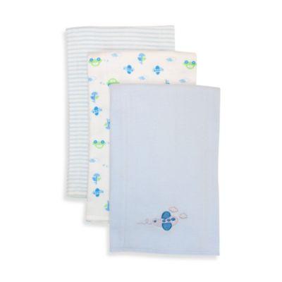 SpaSilk® Planes 3-Pack Burp Cloths in Blue