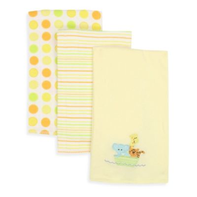 Spasilk® Ark 3-Pack Burp Cloths