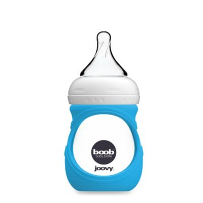 Joovy® Boob 5-Ounce Glass Bottle and Silicone Sleeve in Blue