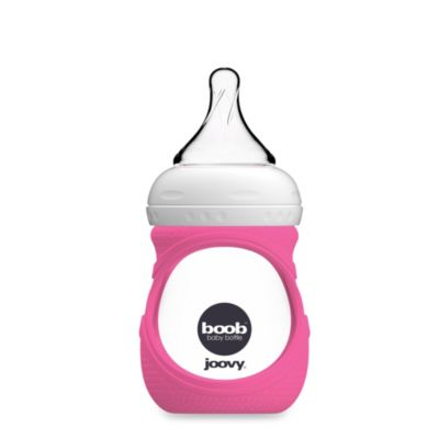 Joovy® Boob™ 5-Ounce Glass Bottle and Silicone Sleeve in Pink