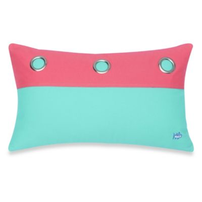 Southern Tide® Cabana Stripe Oblong Toss Pillow in Offshore Green/Sunset Pink