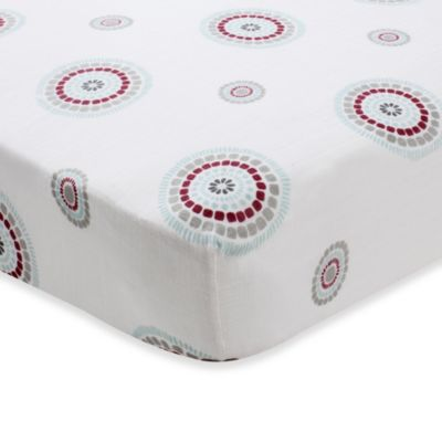 aden + anais® 100% Cotton Muslin Crib Sheet in Liam the Brave Medallion