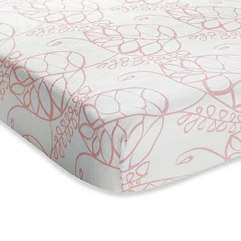 Buy Aden Anais 174 Crib Sheet In Pink Tranquility Leafy