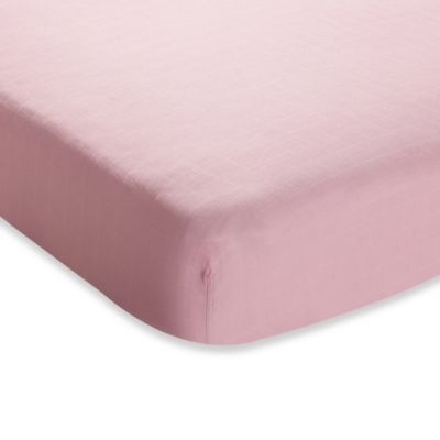 aden + anais® Crib Sheet in Solid Rose