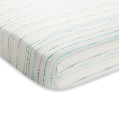 aden + anais® Rayon Bamboo Fiber Crib Sheet in Blue Azure Beads