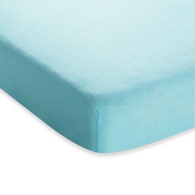 Aqua Crib Sheet