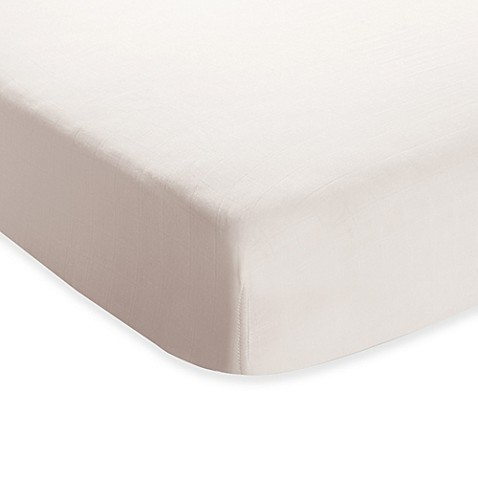 Aden Anais 174 Crib Sheet In Earthly White Buybuy Baby