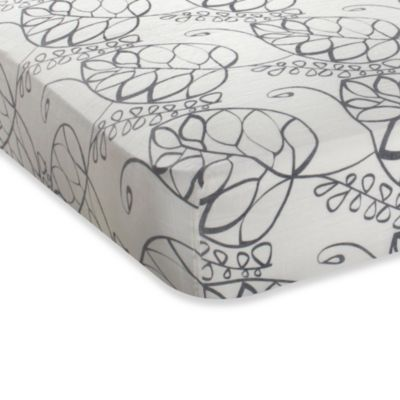 aden + anais® Fitted Crib Sheet in Moonlight Leafy