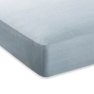 aden + anais® Crib Sheet in Solid Grey