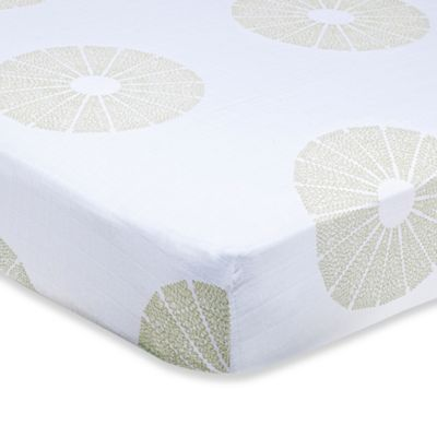 aden + anais® Organic Cotton Muslin Crib Sheet in Oasis