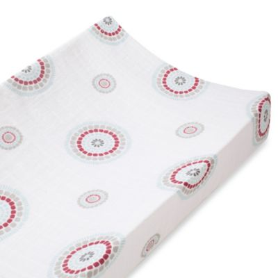 aden + anais® 100% Cotton Muslin Changing Pad Cover in Liam the Brave Medallion