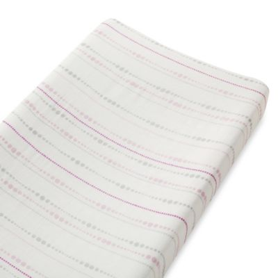 aden + anais® Changing Pad Cover in Pink Tranquility Beads Pattern