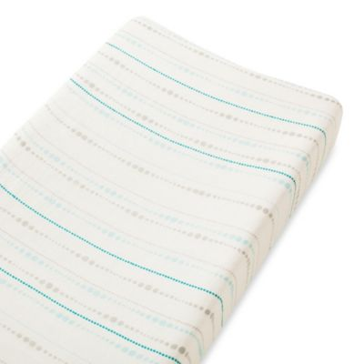 aden + anais® Changing Pad Cover in Blue Azure Beads
