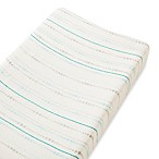 aden + anais® Rayon Bamboo Fiber Changing Pad Cover in Blue Azure Beads
