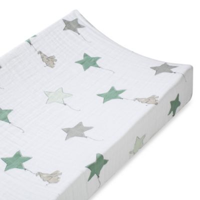 aden + anais® 100% Cotton Muslin Changing Pad Cover in Up, Up & Away
