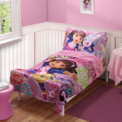 Baby Boom Dora the Explorer Dora Rocks Toddler 4-Piece Bed Set