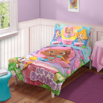 Baby Boom Bubble Guppies Let's Dance Toddler 4-Piece Bedding Set with Reversible Comforter