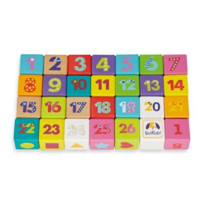 Activity > Boikido 28-Piece Wooden ABC Cubes