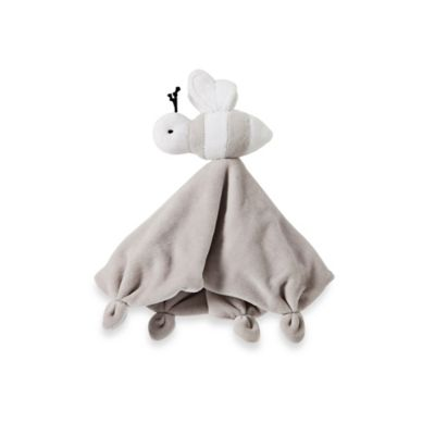 Burt's Bees Baby® Plush Bee Lovey 100% Organic Cotton Blanket in Grey