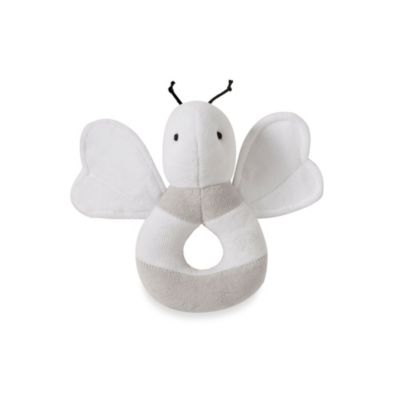 Burt's Bees Baby® Plush Loop Bee Organic Cotton Rattle in Grey
