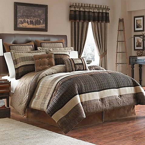Croscill Sahara 4 Piece Reversible King Comforter Set
