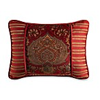 Lorenza Printed Oblong Velvet Toss Pillow