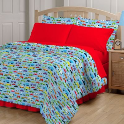 Bright Cars Twin Comforter Set
