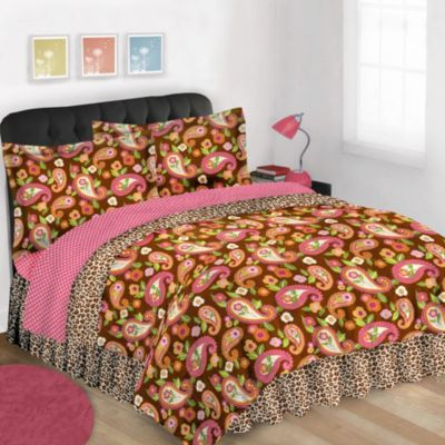 Orange Pink Bed Sets
