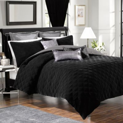 Velvet Washed Silk European Pillow Sham in Black