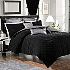 Velvet Comforter and Sham Set in Black