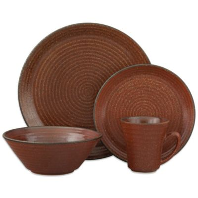 Sango® Comet 16-Piece Dinnerware Set in Sienna