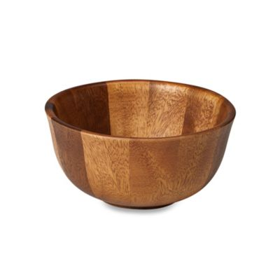 B. Smith Individual Tulip Wood Bowl
