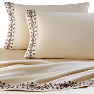 J. Queen New York™ Luxembourg Full Sheet Set in Mink