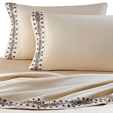 J Queen New York Luxembourg Sheet Set In Mink Bed Bath