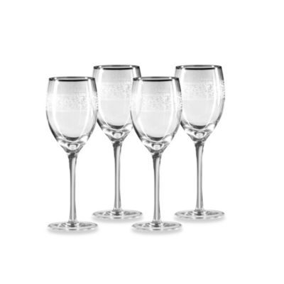 Mikasa® Parchment Platinum 12-Ounce Goblets (Set of 4)