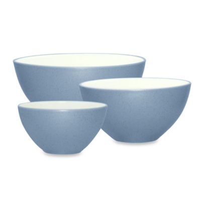 Noritake® Colorwave 3-Piece Mixing Bowl Set in Ice