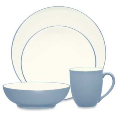 Noritake® Colorwave Coupe 4-Piece Place Setting in Ice
