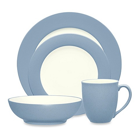 Noritake® Colorwave Rim 4-Piece Place Setting in Ice