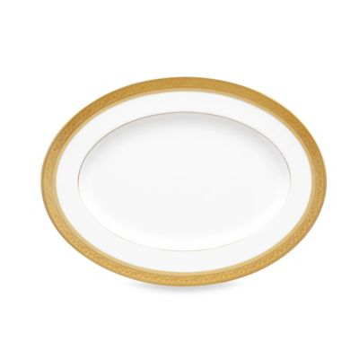 Noritake Summit Gold 12-Inch Oval Platter