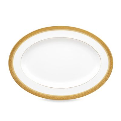 Noritake Summit Gold 14-Inch Oval Platter