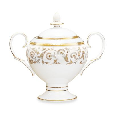 Noritake Summit Gold 9-Ounce Covered Sugar Bowl